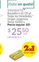 Oferta de VAUQUITABocadito x 22 /25 gr. por $25,5