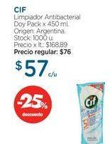 Oferta de CIFLimpiador Antibacterial Doy Pack x 450 ml. por $57
