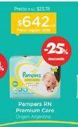 Oferta de PAMPERSPañal Recien Nacido Premium Care x 36 u. por $642