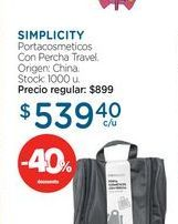 Oferta de Portacosmeticos con percha travel  por $539,4