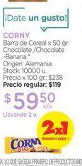 Oferta de CORNYBarra de Cereal x 50 gr. por $59,5
