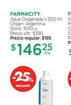 Oferta de FARMACITYAgua Oxigenada x 500 ml. por $146,25