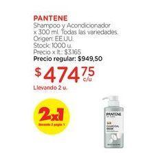 Oferta de PANTENEShampoo y Acondicionador x 300 ml. por $474,75