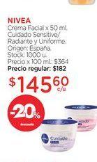 Oferta de NIVEACrema Facial x 50 ml. por $145,6