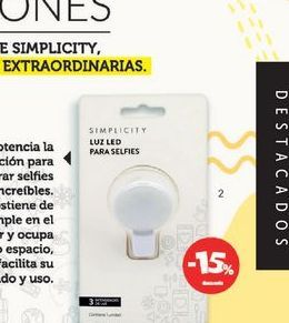 Oferta de SIMPLICITYLuz para Selfies 3 Intensidades. por $399