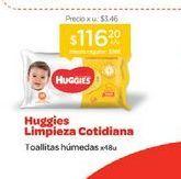 Oferta de HUGGIESToallas Húmedas Clásico Y Cotidiano x 48 u. por $116,2