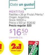Oferta de MENTITASPastillas x 26 gr. por $16,5