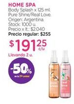Oferta de HOME SPA	Body Splash x 125 ml. por $191,25