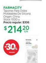 Oferta de FARMACITYTapones Para Oidos Moldeables De Silicona. por $214,2