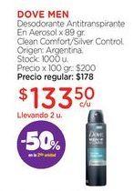 Oferta de DOVE MENDesodorante Antitranspirante En Aerosol x 89 gr. por $133,5