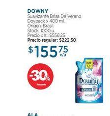 Oferta de DOWNYSuavizante Brisa De Verano Doypack x 400 ml. por $155,75