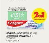 Oferta de COLGATECrema Dental Sensitive Pro alivio X 110 G por $131,75