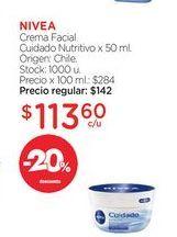 Oferta de NIVEACrema Facial Cuidado Nutritivo x 50 ml. por $113,6