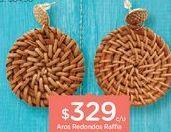 Oferta de WAVAros Redondos Raffia por $329