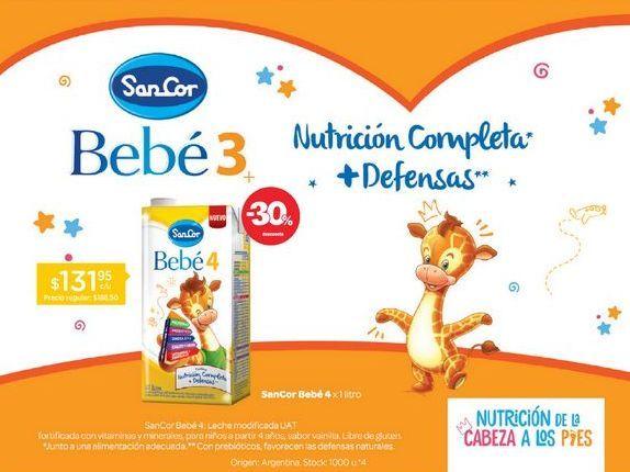 Oferta de SANCOR BEBE 4Leche Infantil Nutrición Completa X 1 Lt. por $131,95