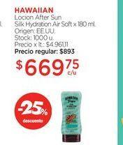 Oferta de HAWAIIANLocion After Sun Silk Hydration Air Soft x 180 ml. por $669,75