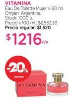 Oferta de VITAMINAEau De Toilette Mujer x 60 ml. por $1216