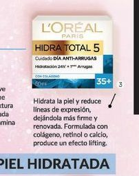 Oferta de LOREALCrema Hidra Total 5 Wrinkle Expert + 35 x 50 ml. por $676