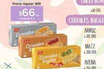 Oferta de BAGLEYGalletitas Cereal x 181/189/155 gr por $66