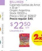 Oferta de BILLIKENCaramelo Gotitas de Amor x 35 gr. por $22,5