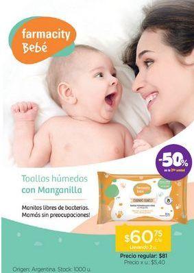 Oferta de FARMACITY BEBÉToallas Húmedas Cuidado Diario Cross X 15 u. por $60,75