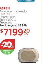 Oferta de ASPENAlmohadón masajeador CM3 -200. por $7199,2