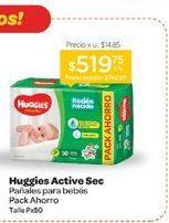 Oferta de HUGGIESPañal Active Sec Rn Talle P x 50 u. por $519,75