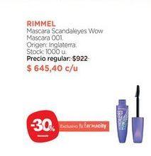 Oferta de Máscara Scandaleyes Wow Mascara 001. por $645,4
