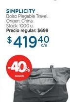 Oferta de Bolso plegable travel  por $419,4