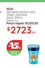 Oferta de NUKSet vasos evolution Azul. por $2723