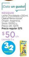 Oferta de NESQUIKLeche Chocolatada x 200 ml. por $50
