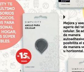 Oferta de SIMPLICITYAnillo para el celular. por $237,15