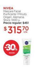 Oferta de NIVEAMascara Facial Purificante 1 Minuto. por $315,7