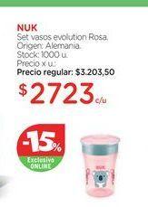 Oferta de NUKSet vasos evolution Rosa. por $2723