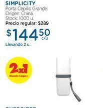 Oferta de SIMPLICITYPorta Cepillo Grande. por $144,5
