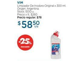 Oferta de VIMLimpiador De Inodoro Original x 300 ml. por $58,5