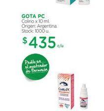 Oferta de GOTA PCColirio x 10 ml. por $435