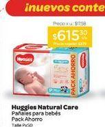 Oferta de HUGGIESPañal Natural Care Megapack Rn x 34 u. por $615,3