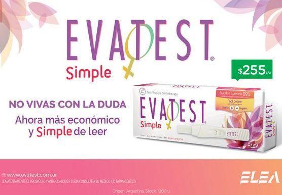 Oferta de FarmaciaEVATESTEvatest Simple X1 por $255