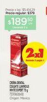 Oferta de COLGATECrema Dental Expert X 70 G por $189,5