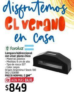 Oferta de Lámpara bidireccional con visor plano chico  por $849