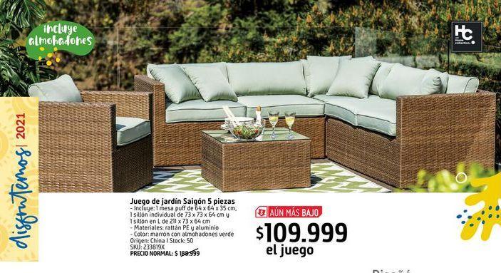 Oferta de Juego de terrazas Saigón por $109999
