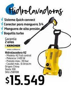 Oferta de Hidrolavadora K2 por $15549