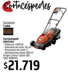 Oferta de Cortqacésped eléctrico B&D por $21719