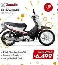 Oferta de Motos Zanella 110cc por $6499