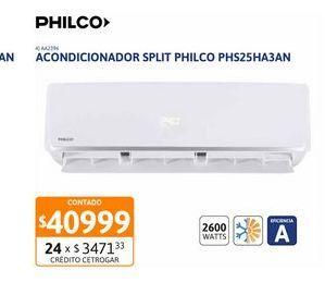 Oferta de Acon Spl Philco 2600W FC EA PHS25HA3AN por $40999