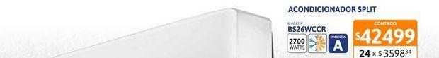Oferta de Acon Spl BGH 2700W FC EA BS26WCCR por $42499