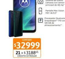 """Oferta de Cel Lib Moto One Fusion 6,5"""" 4/128 Esmer por $32999"""