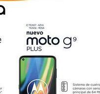 """Oferta de Cel Lib Moto G9 Plus 6,8"""" 4/128 64MP Azu por $35999"""
