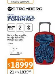 Oferta de Sist Portatil BT Stromberg Flexy 100WRMS por $18999